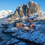 Road Reine-Sakrisøya Island, Lofoten, Norway, Europe