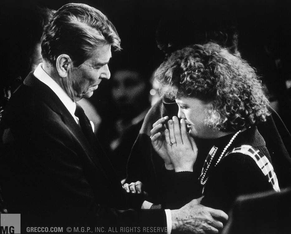 President Ronald Regan Consoles Tracey Walker Mgp Stock Photos