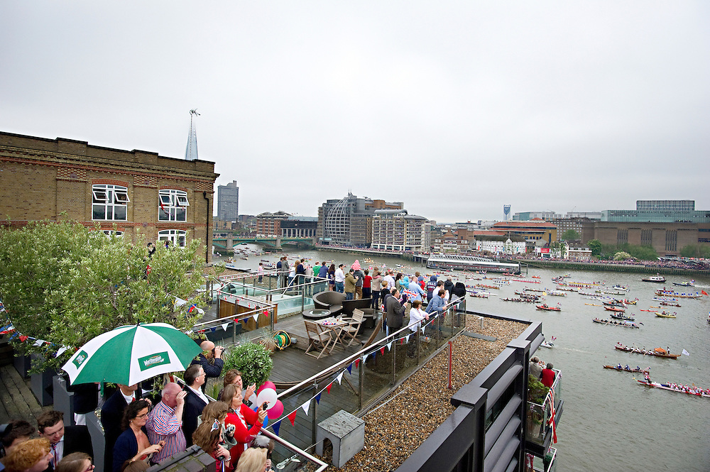 Thames Diamond Jubilee River Pageant ,part of Queen Elizabeth II's Diamond Jubilee..© Antony Jones..