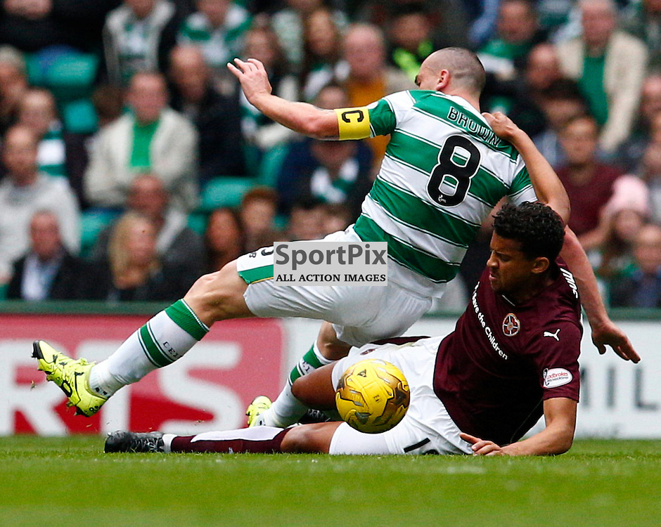 Celtic v Ross Hearts....Scott Brown and Osman Sow battle for the ball....(c) STEPHEN LAWSON | SportPix.org.uk