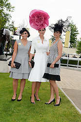 ISABELL KRISTENSEN with her daughters, left VALENTINA KRISTENSEN and right NICHOLA KRISTENSEN at Day 1 of the 2013 Royal Ascot Racing Festival at Ascot Racecourse, Ascot, Berkshire on 18th June 2013.