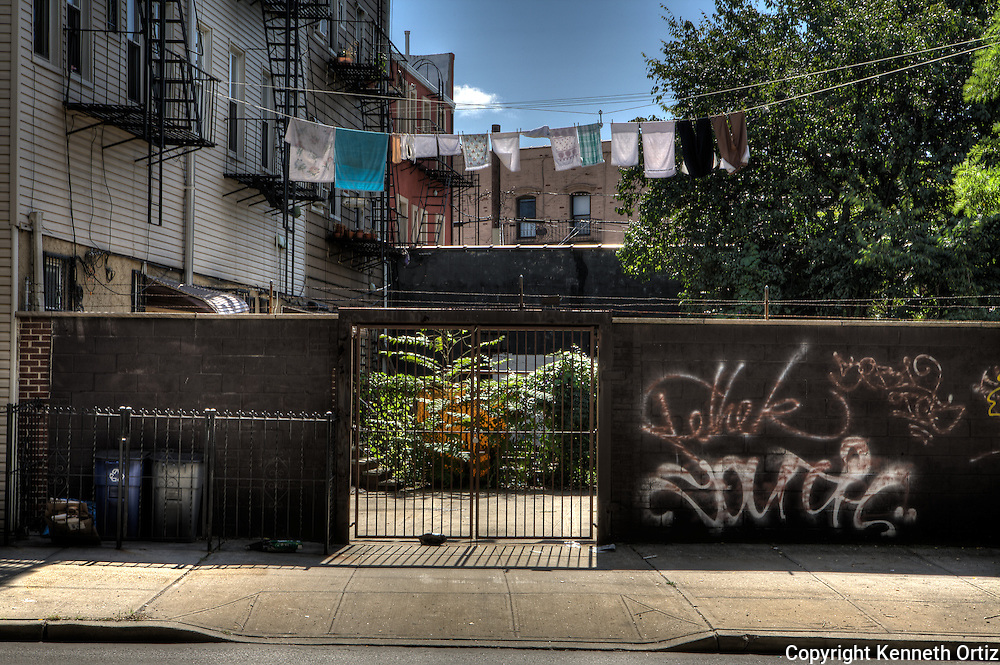 Another backyard, Brooklyn New York, with clothes hanging to dry.