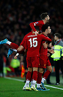 Football - 2019 / 2020 Emirates FA Cup - Third Round: Liverpool vs. Everton<br /> <br /> Curtis Jones of Liverpool celebrates scoring at Anfield.<br /> <br /> COLORSPORT/LYNNE CAMERON