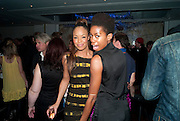 SARAH JANE;  TOLULA ADEYEMI, The after-party after the premiere of Duncan WardÕs  film ÔBoogie WoogieÕ ( based on the book by Danny Moynihan). Westbury Hotel. Conduit St. London.  13 April 2010 *** Local Caption *** -DO NOT ARCHIVE-© Copyright Photograph by Dafydd Jones. 248 Clapham Rd. London SW9 0PZ. Tel 0207 820 0771. www.dafjones.com.<br /> SARAH JANE;  TOLULA ADEYEMI, The after-party after the premiere of Duncan Ward's  film 'Boogie Woogie' ( based on the book by Danny Moynihan). Westbury Hotel. Conduit St. London.  13 April 2010