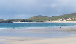 Beach at Balnakeil Bay near Durness in Sutherland on the North Coast 500 scenic driving route in northern Scotland, UK
