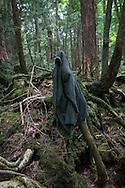 Jacket lies in the undergrowth of Aokigahara Jukai