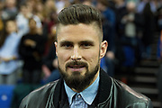 Olivier Giroud of Arsenal during the NBA London Game match between Philadelphia 76ers and Boston Celtics at the O2 Arena, London, United Kingdom on 11 January 2018. Photo by Martin Cole.