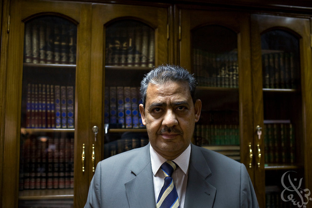 Prof. Dr. Ahmad Al-Tayyeb poses for a portrait in his Cairo, Egypt office October 16, 2008. On March 19, 2010, Al-Tayeb was appointed the grand sheik of Cairo's Al-Azhar University, the pre-eminent theological institute of Sunni Islam in the world today.
