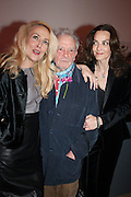 JERRY HALL; DAVID BAILEY; CATHERINE BAILEY, Opening of Bailey's Stardust - Exhibition - National Portrait Gallery London. 3 February 2014