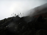 Tåke på vei opp til Fujiyama, fog on the way up to Fujiyama