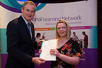 Sean Kyne TD Minister of State for Community Affairs, Natural Resources and Digital Development, presenting certificate to  Enya Curran with  QQI level2 in  Health Related Exercise and Horticulture. Photo:Andrew Downes, xposure .