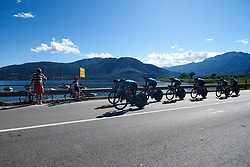 Movistar Women's Team at Giro Rosa 2018 - Stage 1, a 15.5 km team time trial in Verbania, Italy on July 6, 2018. Photo by Sean Robinson/velofocus.com