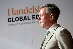 UK ENGLAND LONDON 22JUN16 - Handelsblatt Global editor Kevin O'Brien during a podium discussion hosted by Handelsblatt at the Beagle Bar & Restaurant, Hoxton, London.<br /> <br /> jre/Photo by Jiri Rezac<br /> <br /> © Jiri Rezac 2016