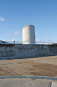 Sea wall and concrete platform. Coastal defences, Ness Point, Lowestoft, Suffolk, England