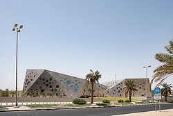Exterior of new Sheikh Jaber Al-Ahmad Cultural Centre in Kuwait City , Kuwait