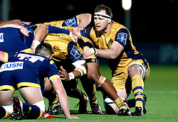Nick Koster of Bristol Rugby prepares to take part in the scrum - Mandatory by-line: Robbie Stephenson/JMP - 04/11/2016 - RUGBY - Sixways Stadium - Worcester, England - Worcester Warriors v Bristol Rugby - Anglo Welsh Cup