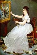 Edouard Manet Portrit of Eva Gonzalés 1870