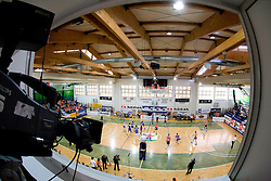 Arena of SGS Radovljica at final match of Slovenian National Volleyball Championships between ACH Volley Bled and Salonit Anhovo, on April 24, 2010, in Radovljica, Slovenia. ACH Volley defeated Salonit 3rd time in 3 Rounds and became Slovenian National Champion.  (Photo by Vid Ponikvar / Sportida)