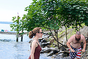 Ithaca, New York - July 06, 2014: Fourth of July Weekend in Ithaca, NY at Monica and Derick's lake house.<br /> <br /> CREDIT: Matt Roth