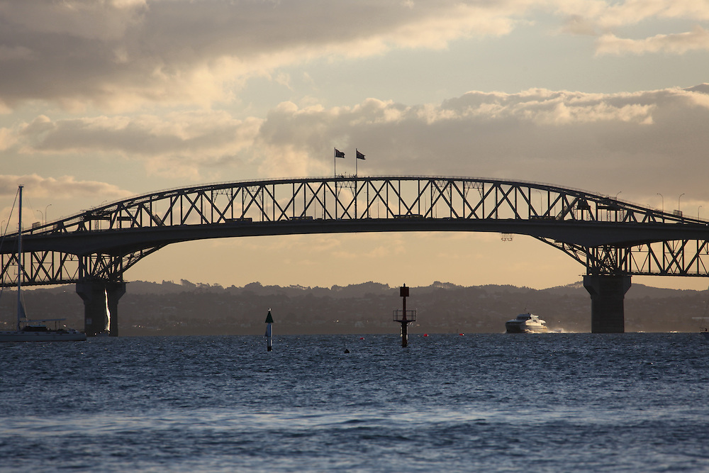 The Auckland Harbour bridge is an eight-lane motorway and it is also a fun place with climb, walk and bungy opportunities