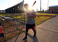 Houston Astros George Springer during  spring training <br /> <br /> ( Photo/Tom DiPace for Nike Baseball)