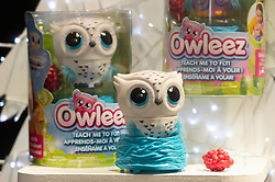 © Licensed to London News Pictures. 13/11/2019. London, UK. An Owleez owl is on display at the Bastian Top 12 Christmas DreamToys. Photo credit: Ray Tang/LNP