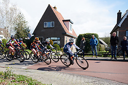 Trixi Worrack (GER) leads the bunch at Healthy Ageing Tour 2019 - Stage 4B, a 74.6km road race from Wolvega to Heerenveen, Netherlands on April 13, 2019. Photo by Sean Robinson/velofocus.com