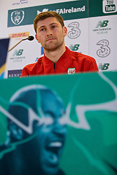 DUBLIN, IRELAND - Monday, October 15, 2018: Wales' Ben Davies during a press conference at the Aviva Stadium ahead of the UEFA Nations League Group Stage League B Group 4 match between Republic of Ireland and Wales. (Pic by David Rawcliffe/Propaganda)