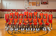 The Yates High School boy's basketball team pose for a photograph, March 1, 2017.
