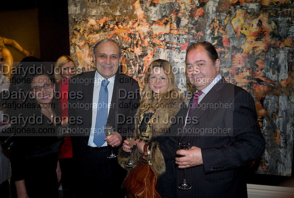 AYNUR SIMSEK; Y???T ALPOGAN; H.E. THE TURKISH AMBASSADOR; NABI OSBEK; SUKRAN TAKIN. Contemporary art Turkish. Sothebys. New Bond St. London. 2 March 2009