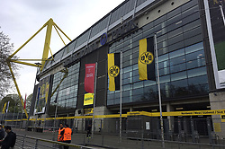A general view outside of the Signal Iduna Park home of Borussia Dortmund.