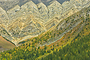 Canadian Rockies. Detail of Mt. Lorette, Kananaskis Country, Alberta, Canada