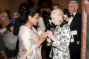 NAZLI JAFFERJEE; VERA BLINKEN, Triennial Summer Ball, Royal Academy. Piccadilly. London. 20 June 2011. <br /> <br />  , -DO NOT ARCHIVE-© Copyright Photograph by Dafydd Jones. 248 Clapham Rd. London SW9 0PZ. Tel 0207 820 0771. www.dafjones.com.
