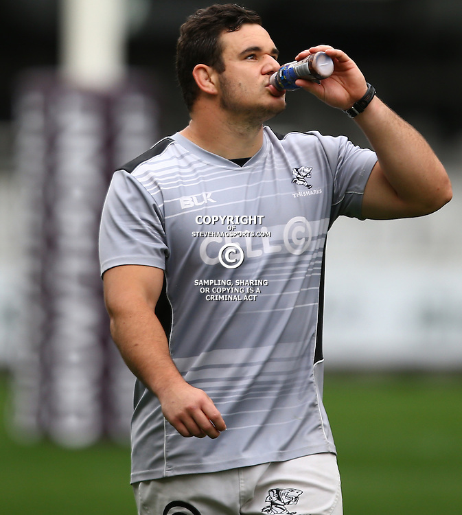 DURBAN, SOUTH AFRICA, 6 September, 2016 - Stephan Coetzee during The Cell C Sharks training session at Growthpoint Kings Park in Durban, South Africa. (Photo by Steve Haag)<br /> <br /> images for social media must have consent from Steve Haag
