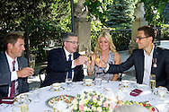 (L-R) Lukasz Kubot and Bronislaw Komorowski - President of Poland and Agnieszka Radwanska and Jerzy Janowicz during meeting in Belvedere Palace in Warsaw, Poland.<br /> <br /> Poland, Warsaw, July 08, 2013<br /> <br /> Picture also available in RAW (NEF) or TIFF format on special request.<br /> <br /> For editorial use only. Any commercial or promotional use requires permission.<br /> <br /> Photo by © Adam Nurkiewicz / Mediasport