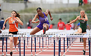 May 19, 2018; Torrance, CA, USA; Asjah Atkinson of St. Anthony wins the Division IV girls 100m hurdles in 14.34 during the CIF Southern Section Finals  at El Camino College.