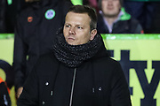 Forest Green Rovers manager, Mark Cooper during the EFL Sky Bet League 2 match between Forest Green Rovers and Grimsby Town FC at the New Lawn, Forest Green, United Kingdom on 22 January 2019.