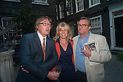 GILES WOOD; RACHEL JOHNSON; IVO DAWNAY, Elliott and Thompson host a book launch of How the Queen can Make you Happy by Mary Killen.- Book launch. The O' Shea Gallery. St. James's St. London. 20 June 2012.