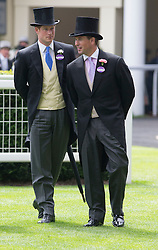 Prince Harry and Peter Phillips at Royal Ascot. Image ©Licensed to i-Images Picture Agency. 19/06/2014. Ascot, United Kingdom. Royal Ascot. Ascot Racecourse. Picture by i-Images
