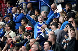Leicester City fans celebrate. - Barclays Premier League - Mandatory by-line: Alex James/JMP - 03/04/2016 - FOOTBALL - King Power Stadium - Leicester, England - Leicester City v Southampton - Barclays Premier League