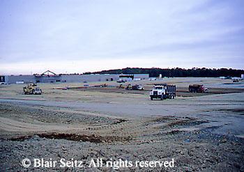 Construction of a suburban shopping mall, 1998, Erie, Erie Co., PA