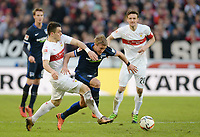 Fotball<br /> Tyskland<br /> 13.02.2016<br /> Foto: Witters/Digitalsport<br /> NORWAY ONLY<br /> <br /> v.l. Filip Kostic (Stuttgart), Per Ciljan Skjelbred, Christian Gentner <br /> Stuttgart, 13.02.2016, Fussball Bundesliga, VfB Stuttgart - Hertha BSC Berlin 2:0 2:0
