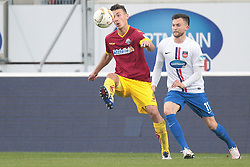 23.04.2016, Voith Arena, Heidenheim, GER, 2. FBL, 1. FC Heidenheim vs SC Paderborn 07, 31. Runde, im Bild Dominik Wydra ( SC Paderborn 07 ) links gegen Daniel Frahn ( 1.FC Heidenheim ) rechts // during the 2nd German Bundesliga 31th round match between 1. FC Heidenheim vs SC Paderborn 07 at the Voith Arena in Heidenheim, Germany on 2016/04/23. EXPA Pictures &copy; 2016, PhotoCredit: EXPA/ Eibner-Pressefoto/ Bozler<br /> <br /> *****ATTENTION - OUT of GER*****