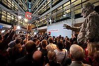 03 AUG 2009, BERLIN/GERMANY:<br /> Frank-Walter Steinmeier (L), SPD, Bundesaussenminister und Kanzlerkandidat, und Franz Muentefering (R), SPD Parteivorsitzender, Pressekonferenz nach den ersten Hochrechnungen des Wahlergebnisses der Bundestagswahl 2009, Wahlabend, Atrium, Willy-Brandt-Haus<br /> IMAGE: 20090927-02-015<br /> KEYWORDS: Franz Müntefering,