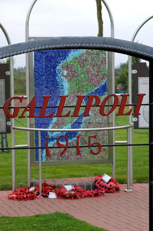 The Gallipoli Memorial, National Memorial Arboretum, Alrewas, Staffordshire, England, UK.