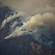 L'incendio sviluppatosi sul monte Tre Denti situato tra i comuni di Cumiana e Cantalupa, nel Pinerolese 24 ottobre 2017