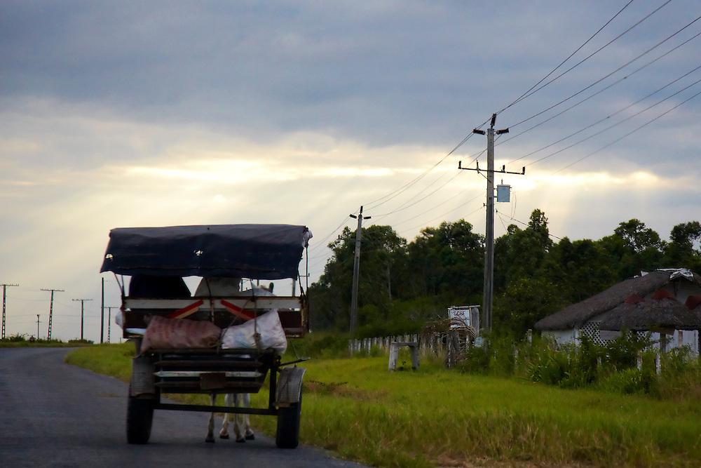 Horse and cart in Sandino, Pinar del Rio, Cuba.