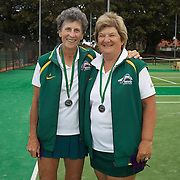 Heather McKay, Australia, (left) and Helen Muir, Australia, Runners Up 65 Womens Doubles during the 2009 ITF Super-Seniors World Team and Individual Championships at Perth, Western Australia, between 2-15th November, 2009.