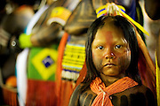 Kayapo child at the Indigenous National Party.