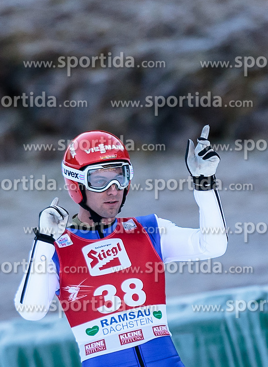 20.12.2015, Nordische Arena, Ramsau, AUT, FIS Weltcup Nordische Kombination, Skisprung, im Bild Bjoern Kircheisen (GER) // Bjoern Kircheisen of Germany during Skijumping Competition of FIS Nordic Combined World Cup, at the Nordic Arena in Ramsau, Austria on 2015/12/20. EXPA Pictures © 2015, PhotoCredit: EXPA/ JFK